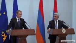 Տուսկ․ «ԵՄ-ն պատրաստ է ամրապնդել համագործակցությունը Հայաստանի հետ»