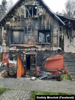Сгоревший дом Александра Мрочека