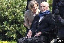 Helmut Kohl și soția sa Maike Kohl-Richter, aprilie 2016