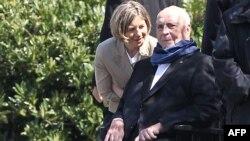 Helmut Kohl cu soția Maike Kohl-Richter la primirea lui Viktor Oban în casa lor de la Oggersheim lîngă Ludwigshafen, în aprilie 2016