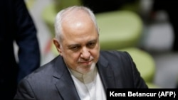 U.S. -- Iranian Foreign Minister Javad Zarif arrives to speak at a high level political forum on sustainable development at the UN Headquarters in New York, July 17, 2019