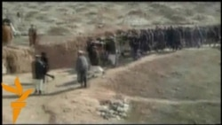خاکسپاری یک مهاجر افغان اعدامشده در ایران در جل دراق افغانستان