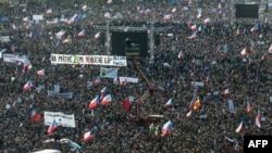 Массовая демонстрация в Праге против премьер-министра Чехии Андрея Бабиша.