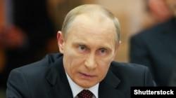 Володимир Путін під час прес-конференції у Києві. Жовтень 2010 року