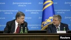 Петро Порошенко (л) та Ігор Коломойський (л), архівне фото
