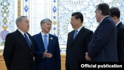 Встреча членов ШОС. Душанбе. 12 cентября 2014 года.