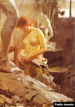 Андэрс Цорн, «У атэлье скульптара Вікстрама» (1889)