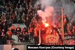 """Болельщики """"Спартака"""" сумели пронести на стадион пиротехнику"""