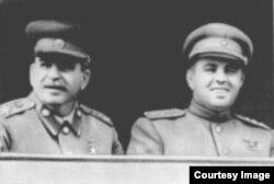 Энвер Ходжа и Иосиф Сталин. Фото 1940-х годов