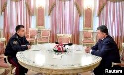 Степан Полторак на встрече с Петром Порошенко