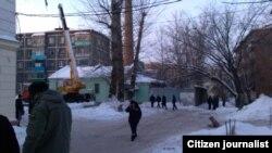 """""""Әл-Ихлас"""" мәчете янында, 16 гыйнвар 2013"""