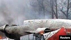 Парэшткі самалёта, які пацярпеў катастрофу пад Смаленскам