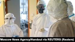 Клініка при Московському університеті імені Ломоносова під час епідемії коронавірусу. Росія, 20 травня 2020 року
