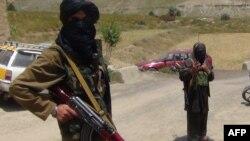 آرشیف/ طالبان مسلح در ولسوالی احمد آبا پکتیا , July 18, 2017