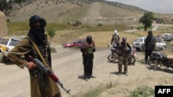 Taliban fighters in southeastern Paktia province