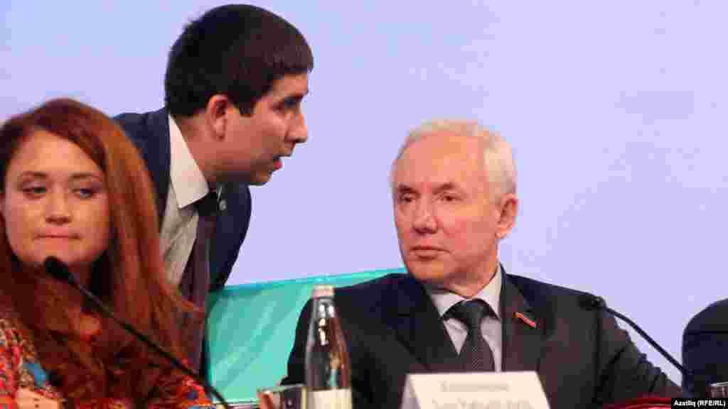 Бөтендөнья татар конгрессы рәисе Ринат Закиров һәм аның беренче урынбасары Данис Шакиров