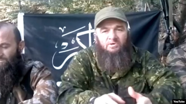 Chechen insurgent Doku Umarov in his latest YouTube post.