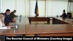 Susret Zorana Tegeltije, predsedavajuće Saveta ministara BiH i američkog ambasadora u BiH Erica Nelsona