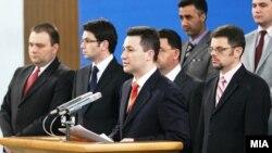 Премиерот Груевски и владините министри