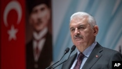 Turkish Prime Minister Binali Yildirim (file photo)