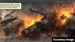 "Prizor iz strip romana ""Tiha ruševina"""