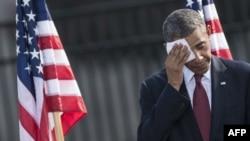 باراک اوباما در مراسم دوازدهمین یادبود یازده سپتامبر در پنتاگون