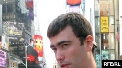 Pavel Khodorkovsky on Times Square last week.