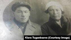 Каратал Табалдинов жубайы Мария менен.