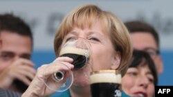 Angela Merkel la o întţlnire electorală din Bad Koestritz