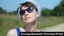 Юлія Цімафеева на літаратурным open-air форуме «Міжмор'е літаратур» у вёсцы Каптаруны.