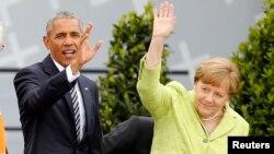 Обама ва Меркел.