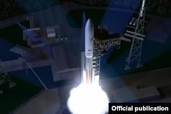 Макет ракеты-носителя Vulcan