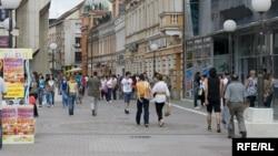 Građani na ulicama Banjaluke, ilustracija