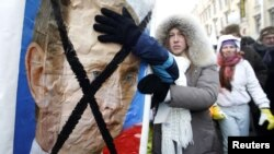 Russians protested in their thousands against the Putin government on February 4