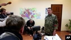 Игорь Гиркин в здании СБУ Славянска