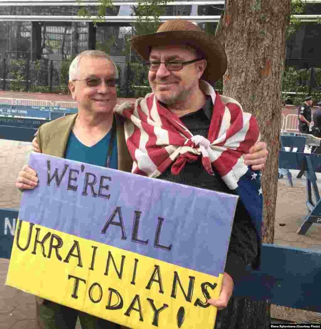 Среди участников акций протеста было немало представителей украинской диаспоры в США.