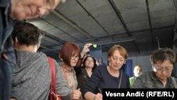 Protest novinara u Srbiji, Beograd, oktobar 2017.