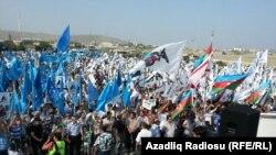 Митинг Национального Совета на «20 участке» в Баку. 18 августа 2013
