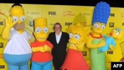 Matt Groening i Simpsoni, 2009.