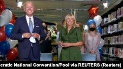 АКШнын президенттигине талапкер Жо Байден жана анын жубайы Жилл Байден.
