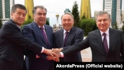 The presidents of Kyrgyztan, Tajikistan, Kazakhstan, and Uzbekistan showed unity at least at this 2018 summit in Astana.