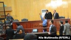 من جلسة محاكمة الرئيس المصري المعزول محمد مرسي