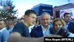 Igor Dodon cu Irina Vlah duminică la Comrat