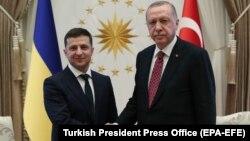 Ուկրաինայի նախագահ Վլադիմիր Զելենսկին և Թուրքիայի նախագահ Ռեջեփ Էրդողանը հանդիպում են Անկարայում, 7-ը օգոստոսի, 2019թ․
