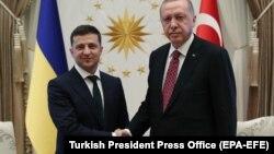 Владимир Зеленский и Реджеп Эрдоган на встрече в Анкаре. 7 августа 2019 года