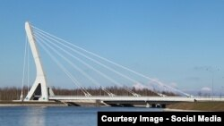 Мост через Дудергофский канал. Петербург