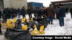 31 декабря в Чечне хоронили останки жертв первой чеченской кампании