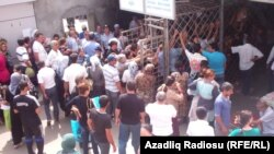Пограничный пункт перехода в Астаре, Азербайджан 2012