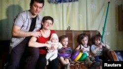Світлана Давидова з родиною
