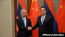 China - Premier Li Keqiang meets with Armenian President Serzh Sarkisian, Beijing, 26Mar2015.